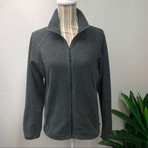 Columbia Fleece Zip Up Jacket Gray Medium